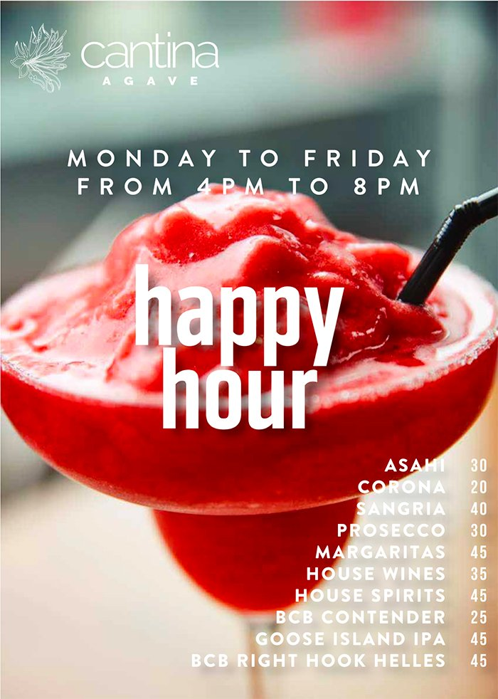 cantina agave happy hour